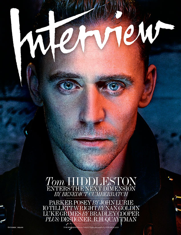 Tom Hiddleston, Interview Magazine, October Issue
